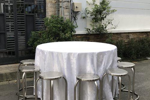 Bộ bàn tiệc ghế Inox